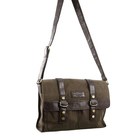 Office Bags Pierrecardin Map cardin mens canvas computer bag pc2271 brown