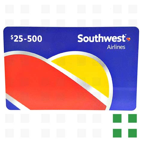 South West Gift Card - southwest airlines gift card 25 frosted leaf federal