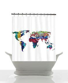 world map bathroom accessories artistic shower curtain on pinterest shower curtains