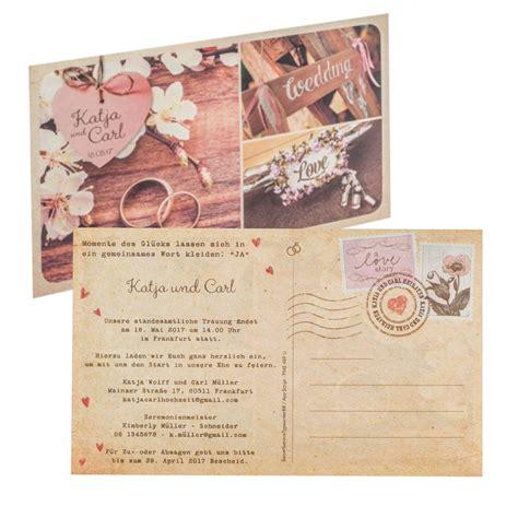 Hochzeitseinladung Einseitig by Hochzeitseinladung Postkarte 725061
