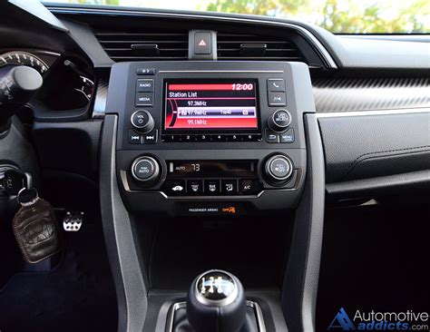honda dashboard 2017 honda civic hatchback sport review test drive
