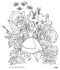 alice wonderland coloring pages coloring pages print