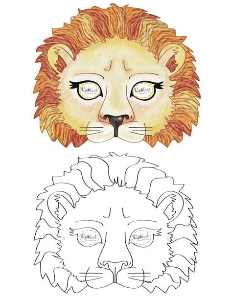 printable mask of lion printable lion mask coolest free printables craft for