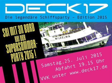deck 17 stuttgart die legend 196 re deck17 schiffsparty edition 2015