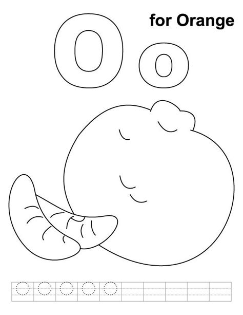 coloring pages for letter o o for orange coloring page with handwriting practice