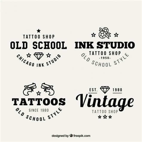 logo tattoo estudio vintage tattoo studio logos vector free download