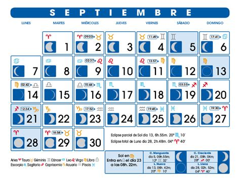 Calendario Lunar 2015 Argentina Calendario Lunar Septiembre De 2015