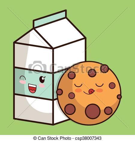 imagenes de galletas kawaii kawaii gr 225 fico leche vector galleta icon desayuno