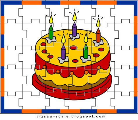 printable photo jigsaw puzzles printable jigsaw puzzle for kids cake jigsaw