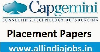 Internship In Capgemini For Mba by Capgemini Placement Papers 2016 Questions