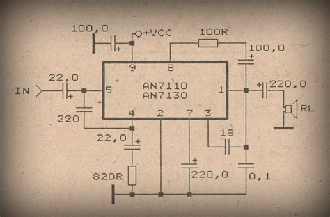 An7106k power lifier circuit with ic anxxxx collection