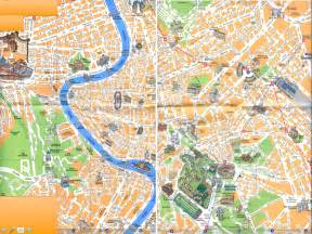 Rome Italy Map by Tourist Map Of Rome Italy Lucky 2b Here