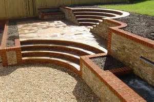 Landscape Garden Design surrey rear steps walls 5 pc landscapes