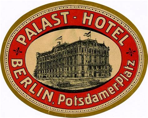 Kofferaufkleber Hotel by Palast Hotel