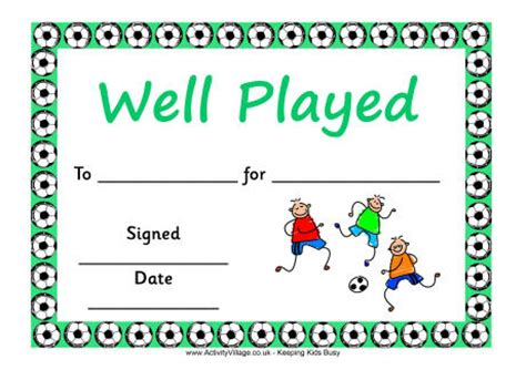 pics for gt football certificate template