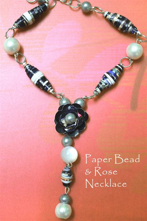 How To Make Jewelry With Paper - paper bead necklace diy jewels of sayuri