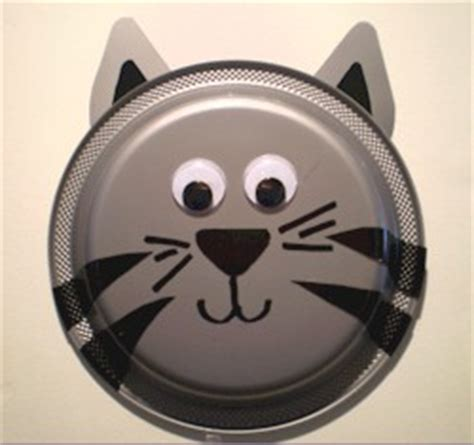 How To Make A Cat Mask Out Of Paper Plates - paper plate kitten
