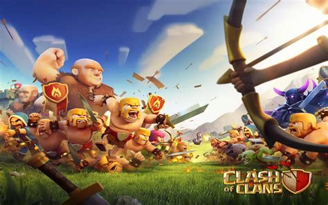 wallpaper laptop clash of clans clash of the clan hd wallpaper desktop hd wallpaper