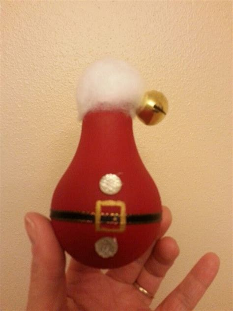 light bulbs santa santa painted light bulb ornament my crafts