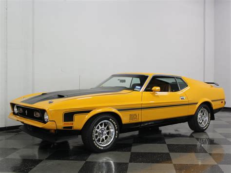 1971 mustang mach 1 for sale medium yellow gold 1971 ford mustang mach 1 for sale mcg