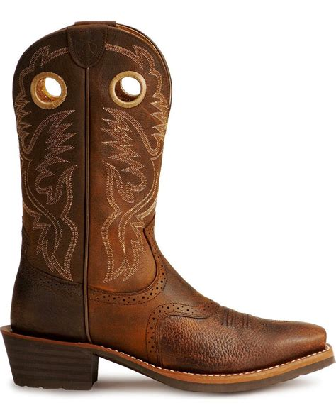 ariat square toe cowboy boots ariat heritage stock cowboy boots square toe