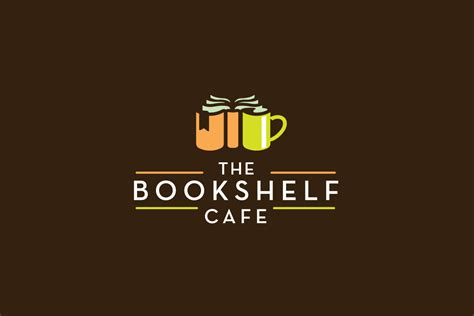 the bookshelf cafe logo design logo cowboy