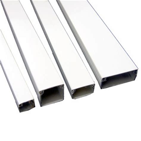 100mm X 75mm White Cable Duct 4 Metre Length Cd10075