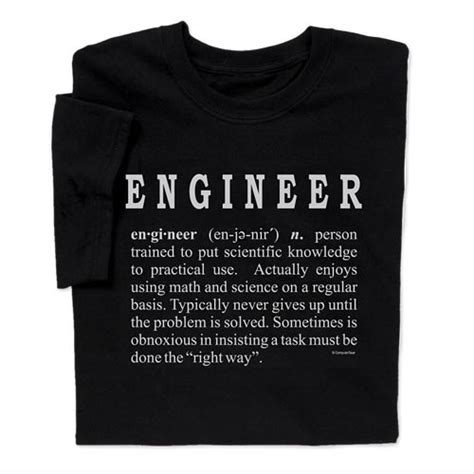 T Shirt Tshirt Engineering wear tongue in cheek engineer definition t shirt