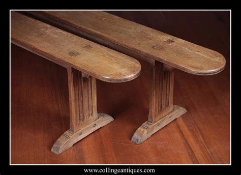 8 foot long pair of 8 feet long benches collinge antiques