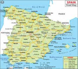 Spain On Map by Spain Road Map Spain Madrid Pinterest