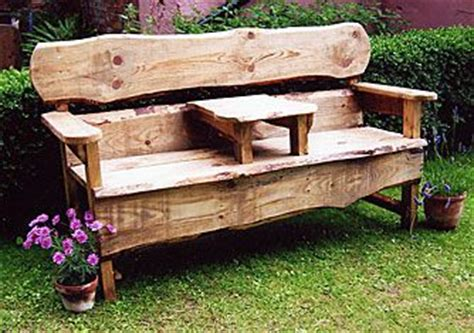 rustic garden furniture for an inexpensive but artistic