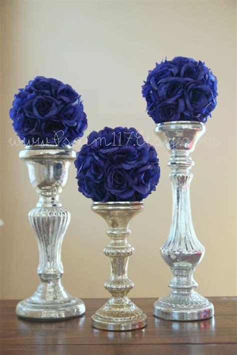 6 6 inch wide royal blue wedding pomanders you