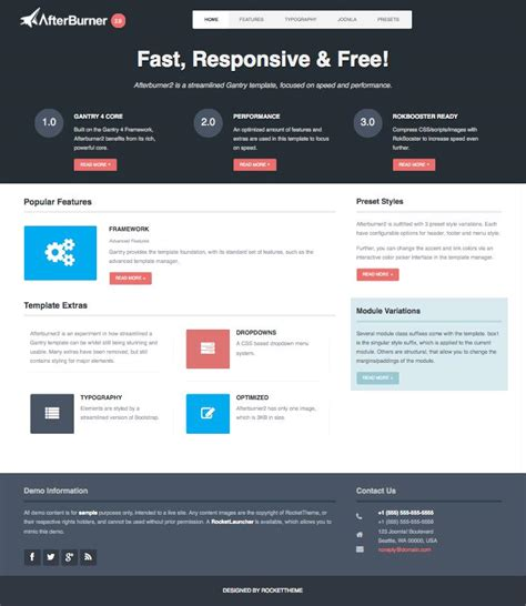 free templates for joomla 2 5 afterburner2 free responsive joomla 2 5 3 2 template