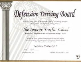 safe driving certificate template arizona defensive driving school az traffic school by improv