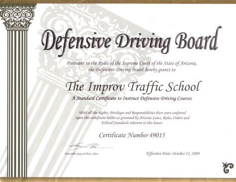 Arizona Defensive Driving School   AZ Traffic School by Improv