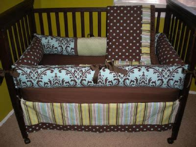 Brown And Blue Crib Bedding Honey Pie Custom 4 Crib Bedding Sets