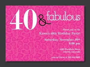 40th birthday invitation templates 40th birthday free printable invitation template