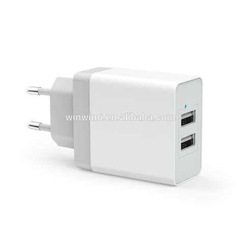 Uneed 2 Port Wall Charger ce fcc eu 3 4a dual usb wall charger 2 port ac wall