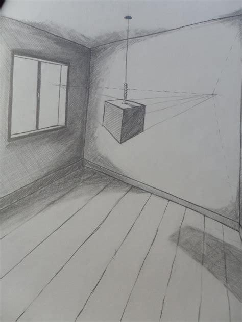 cube flottant perspective oblique 224 deux points de fuite