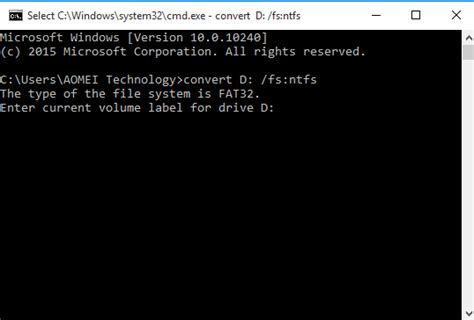 cmd format fat32 volume label top three ways to convert fat32 to ntfs windows 10