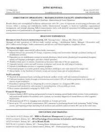 Nursing Home Administrator Sle Resume by Assistant Nursing Home Administrator Resume Sales Nursing Lewesmr