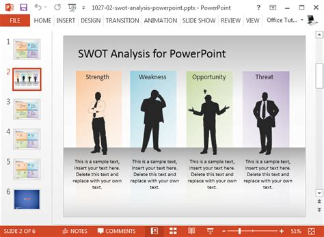 Swot Presentation Template by Best Swot Powerpoint Templates