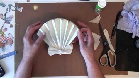 How To Make Paper Shells - how to make a 3d sea shell easel card with g45 by the sea