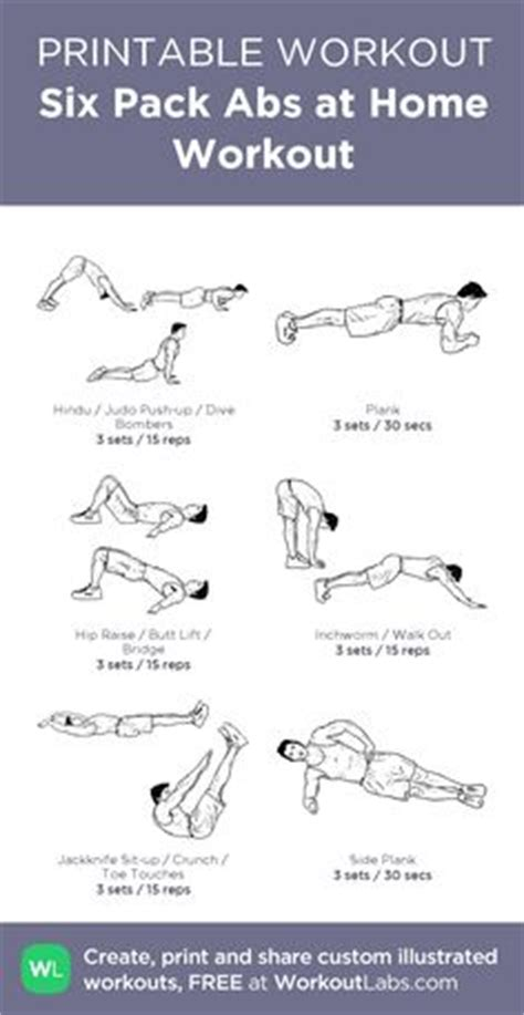 six pack abs at home workout my custom workout created