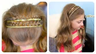 pretty hair styles with wand braid sparkly headband hairstyles