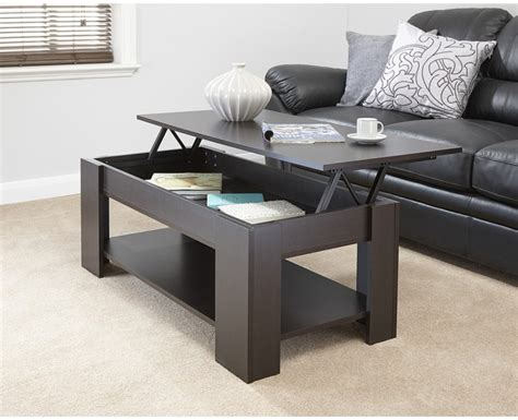 Lift Up Coffee Table Julie Lift Up Top Coffee Table Espresso Quality Finish