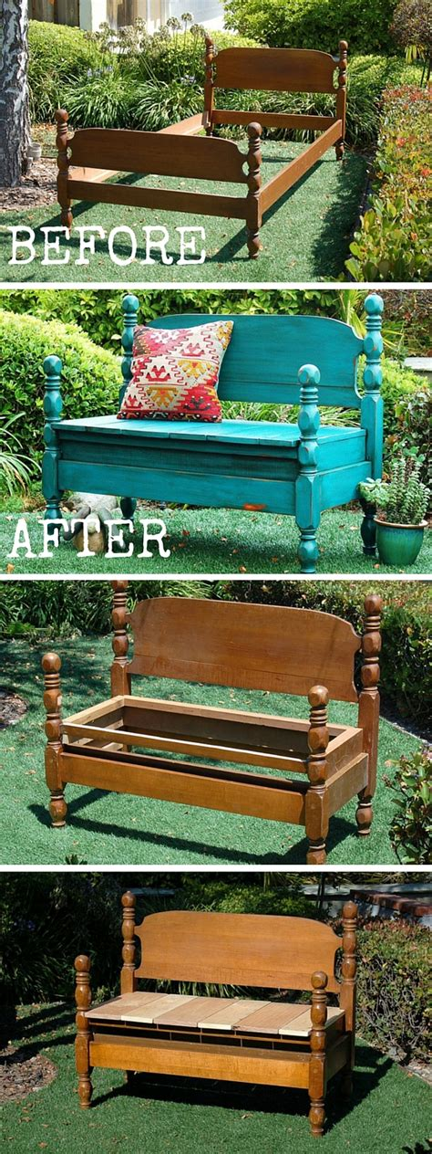 bench that turns into a bed diy turn an old bed into a bench
