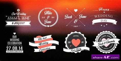 Wedding Romantic Titles Pack After Effects Project Videohive 187 Free After Effects Templates Free After Effects Title Templates