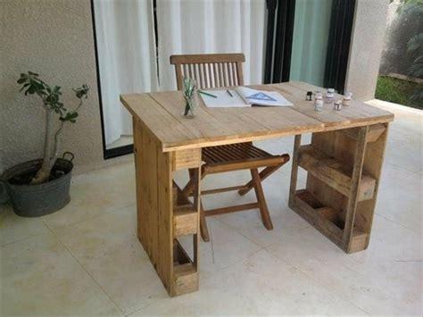 bureau en palette de bois bureau en palette mod 232 les diy et tutoriel pour le