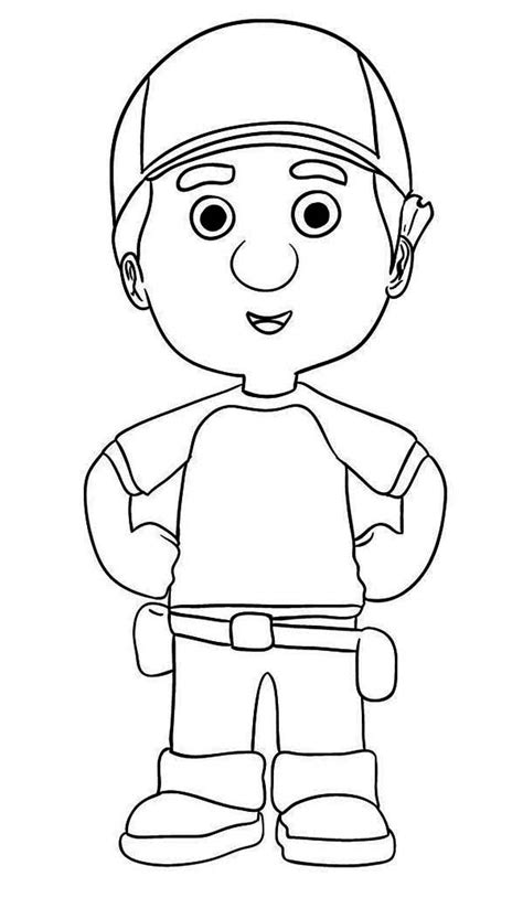 handy manny coloring pages manny garcia handy manny coloring page print